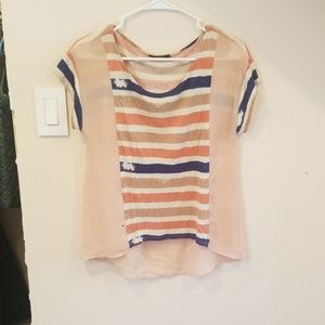 Soprano extra small pink and blue blouse